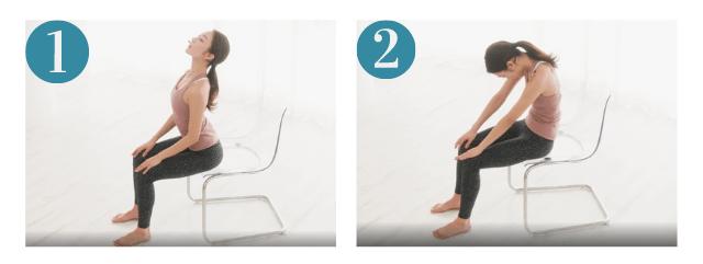 椅子に座りながらできる肩甲骨のストレッチ