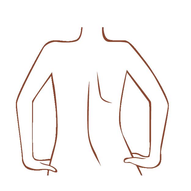 女性の背中 イラスト